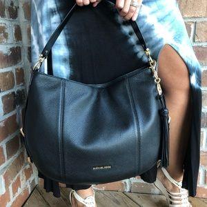 NWT Michael Kors Brooke Shoulder Black Bag